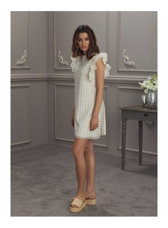 """Šaty """"FLORENTINA"""" - dámske šaty krémovej farby - Dadoo 7ffb55054a9"""