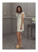 "Dress ""FLORENTINA"" - women's dress cream color"