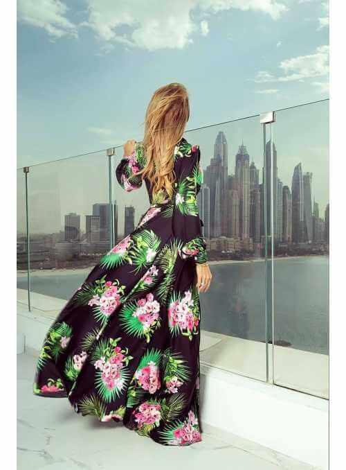 """Maxi šaty """"Colorful garden"""""""