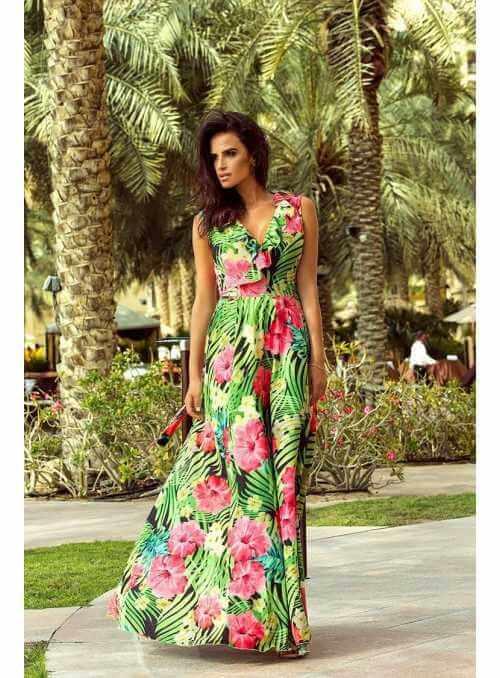 """Maxi šaty """"pink garden"""""""