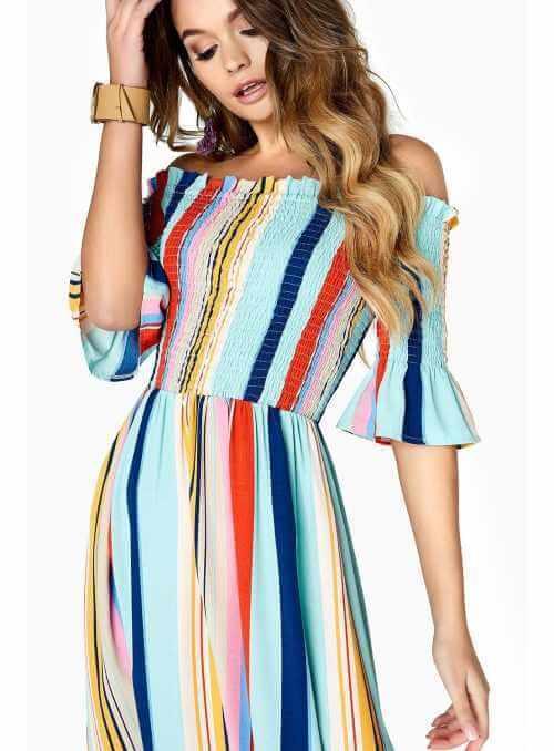 "Maxi šaty ""Rainbow"""