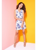 "Dress ""BLUE FLOWERS"" - women's dress with floral print"