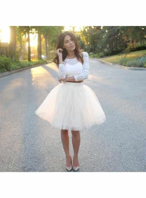 Lunicite BIELY TULIPÁN – exkluzívna tylová sukňa krémovo biela, 60cm