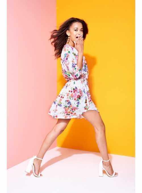 "dámske mini šaty ""WHITE FLOWER"""