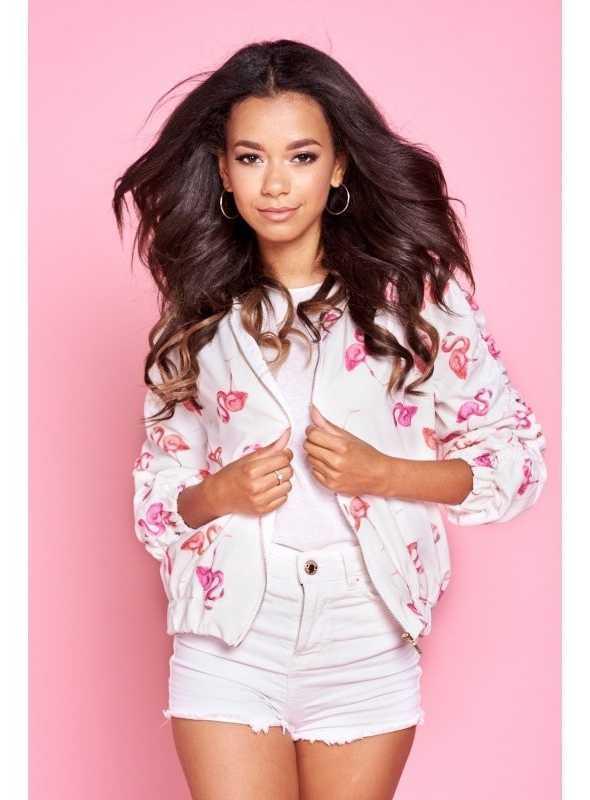 """Bomber jacket """"Flamingos"""""""