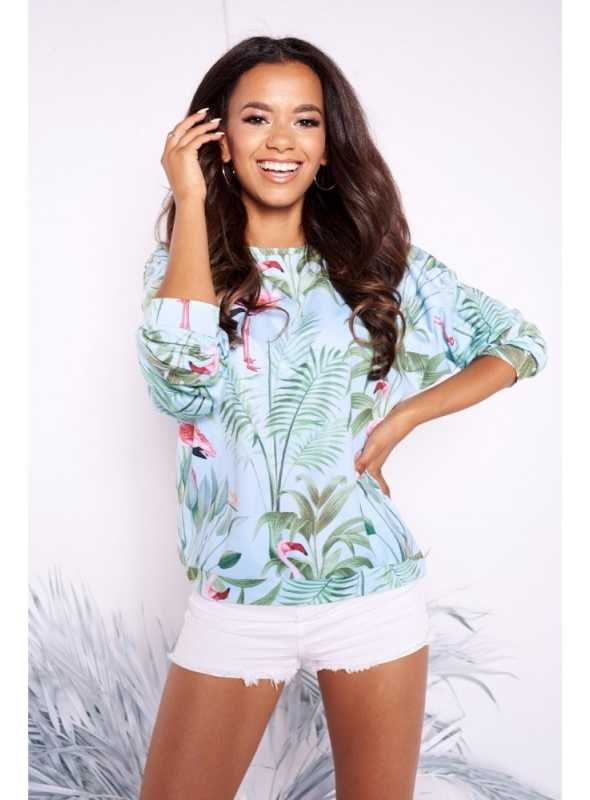 "Top ""Mint flamingo"""