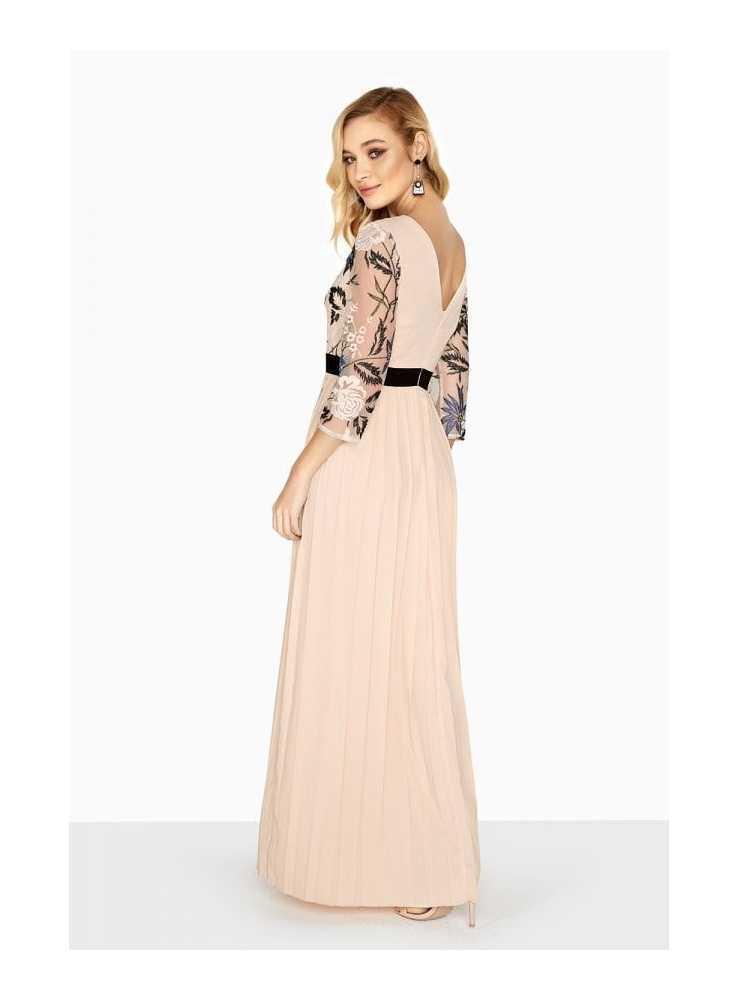 "5f1a8b3482b6 Maxi plisované šaty ""Miss D"" - Dadoo"