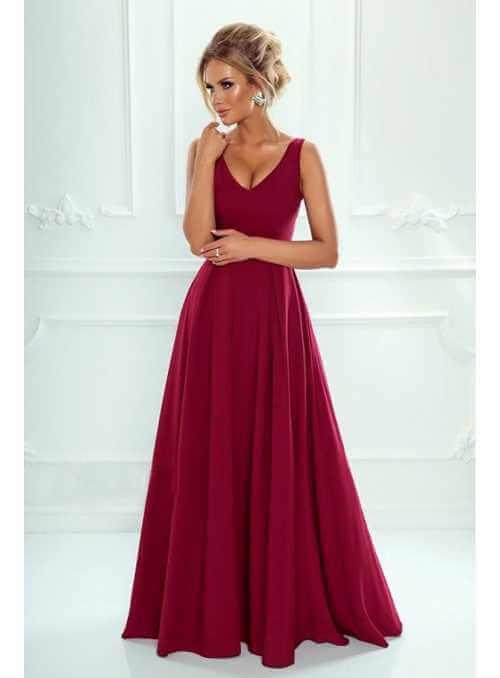 Maxi bordové šaty Klaudia
