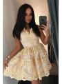 Mini šaty CARMEN, zlaté