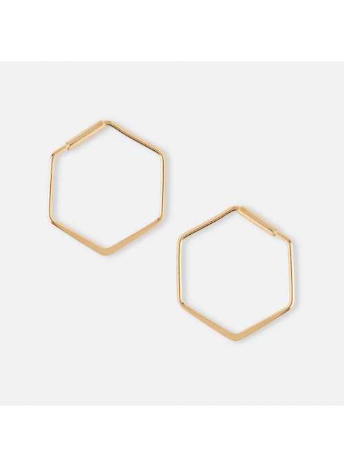 """Náušnice """"Hexagon"""", zlaté"""