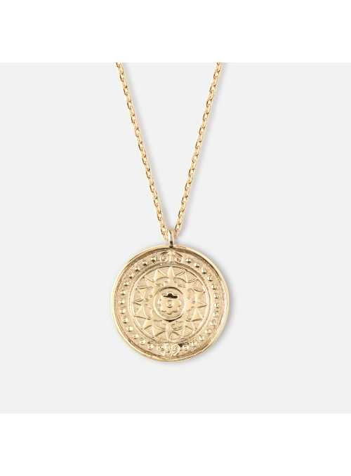 "Necklace""Gold coin"""