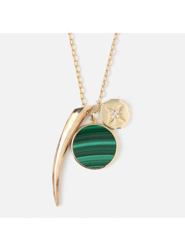 "Necklace ""Malachite charm"""