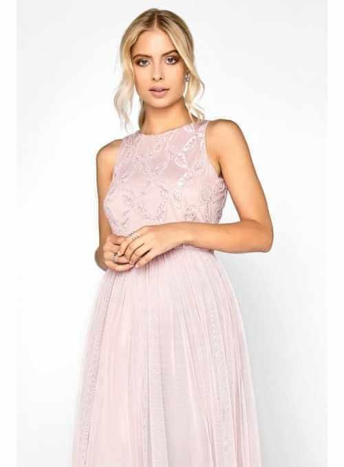 """PREDOBJEDNÁVKA Maxi šaty """"Pinky champagne"""""""