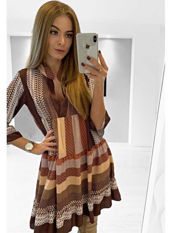 "Šaty ""Brown pattern"""