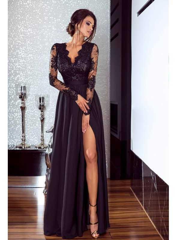 """Šaty """"čierne + čierny top"""""""