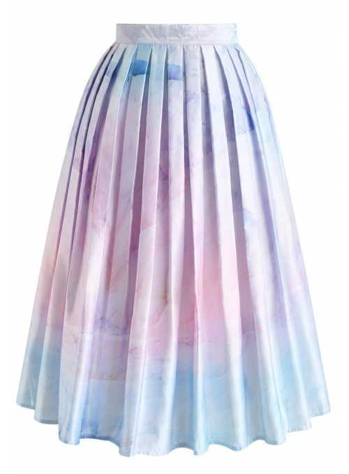 "Midi skirt ""Waterfall"""