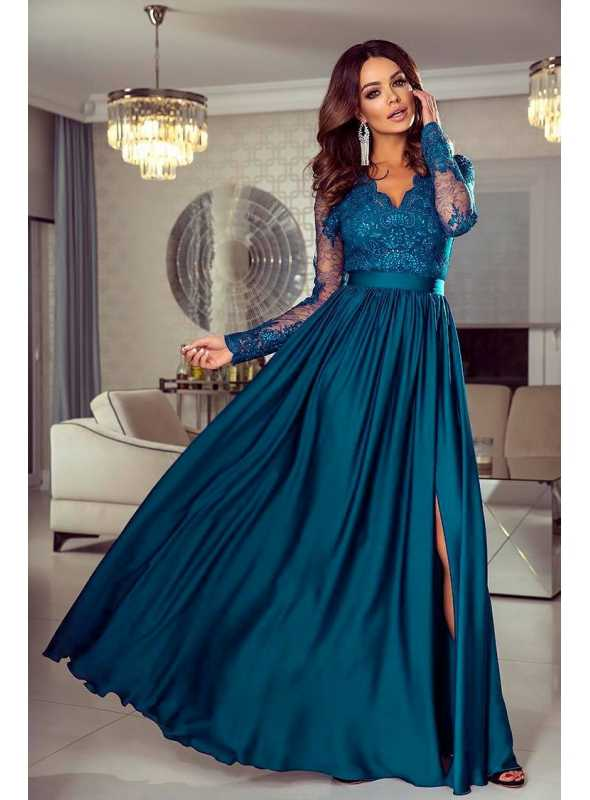 "Šaty ""Lace light blue"" - Dadoo 42ec52126a0"