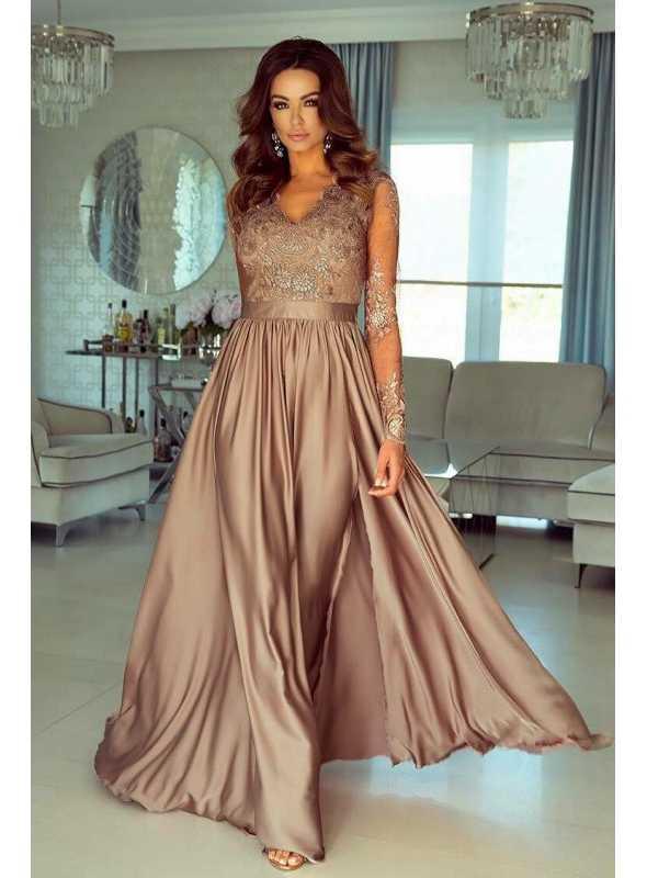 Maxi zlaté šaty Sabina - Dadoo e76c9c2d696