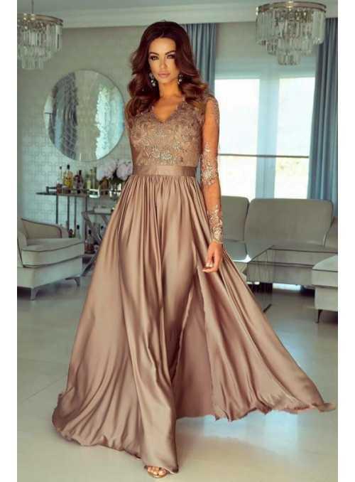 Maxi zlaté šaty Sabina