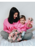 "Fuchsia sweatshirt ""Red Love"""