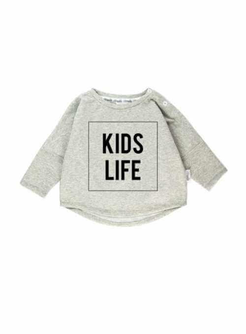 KIDS LIFE – detská mikina, šedá