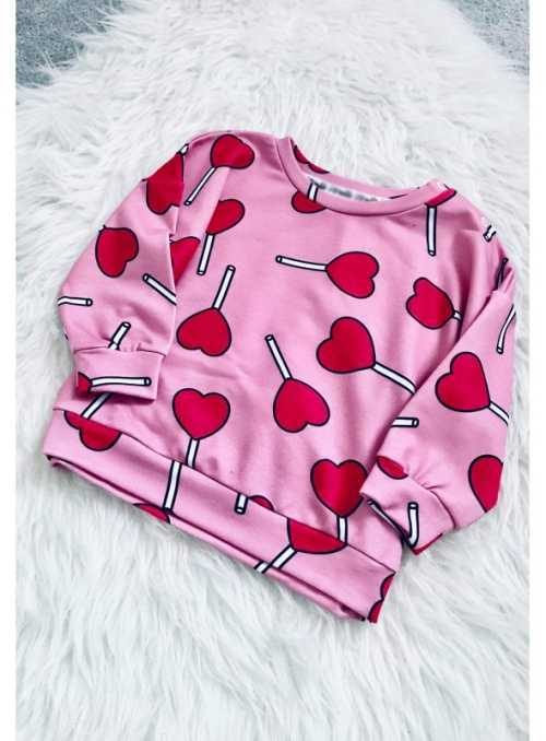 HEART LOLLIPOPS - children's sweatshirt