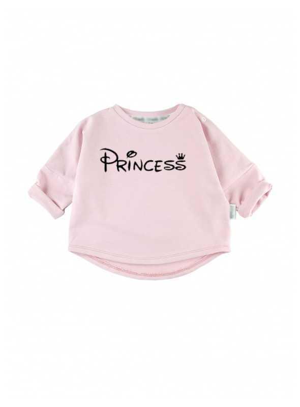 PRINCESS – ružová detská mikina