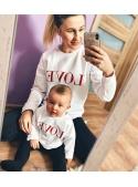 """White women's sweatshirt """"RED LOVE"""""""