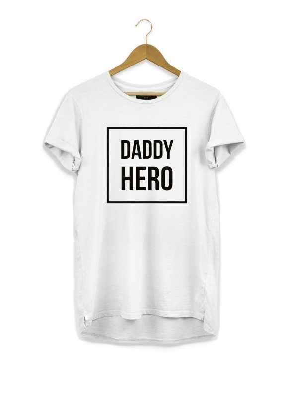 DADDY HERO - men's t-shirt, white
