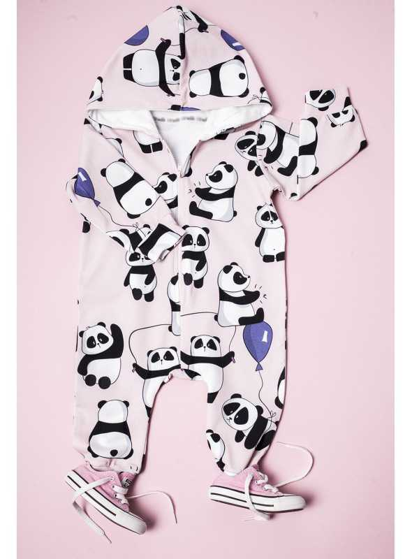 children jumpsuit with hood PANDA