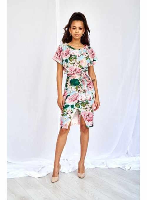 """7b4105dbb98c Kimonové šaty s viazaním """"mentolová pivonka"""""""
