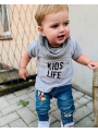 KIDS LIFE – dětské tričko, šedé