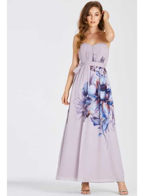 "Maxi dress ""Purple waterlily"""