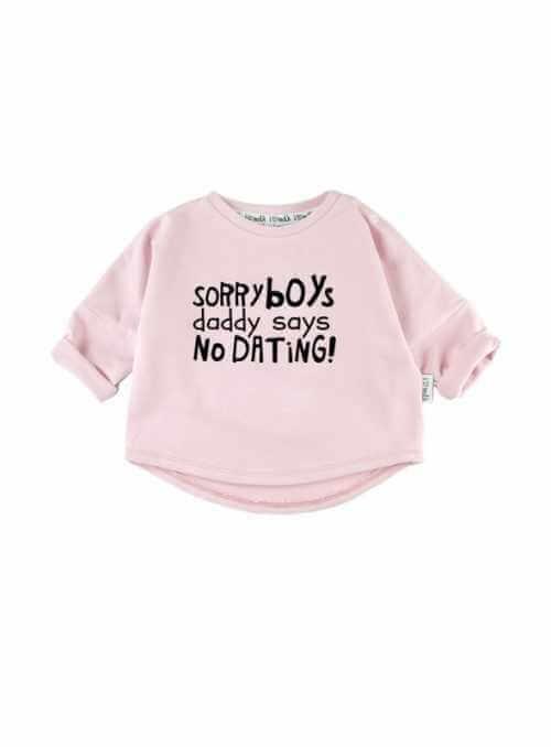 """""""SORRY BOYS..."""" – dětská mikina, růžová"""