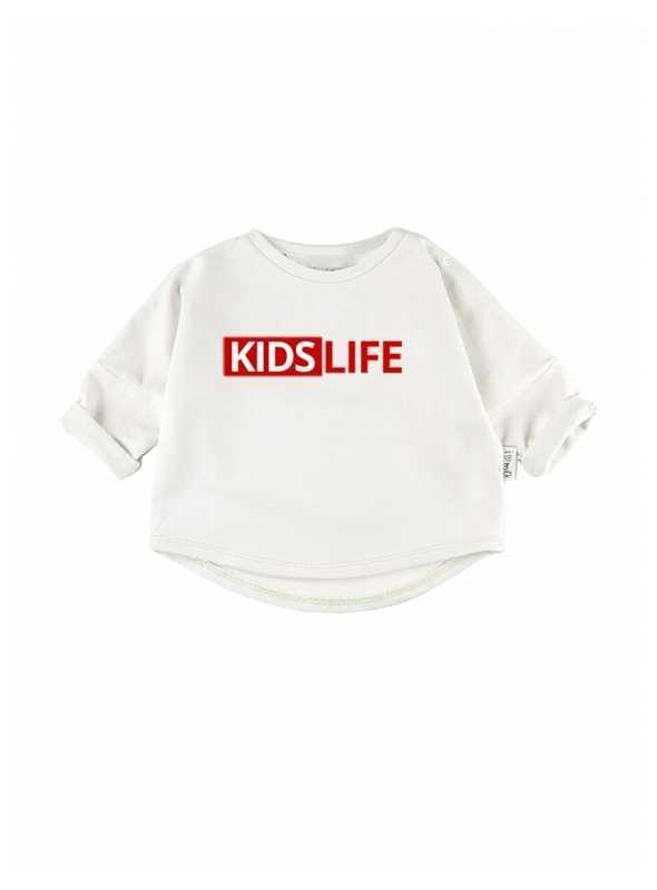 KIDS LIFE – detská mikina, biela - 0-3 mes