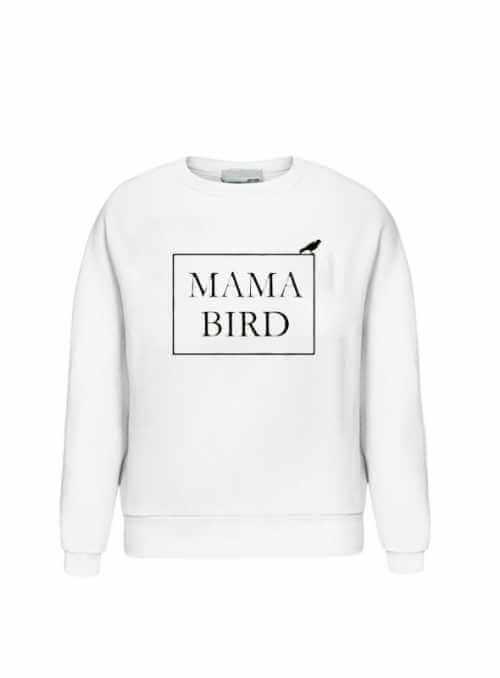 """biela dámska mikina """"MAMA BIRD"""""""