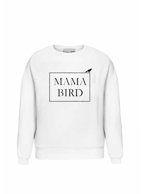 """Bílá dámská mikina """"MAMA BIRD"""""""