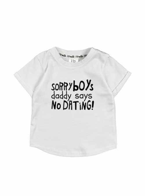 """Sorry boys ..."" - children's T-shirt, white"