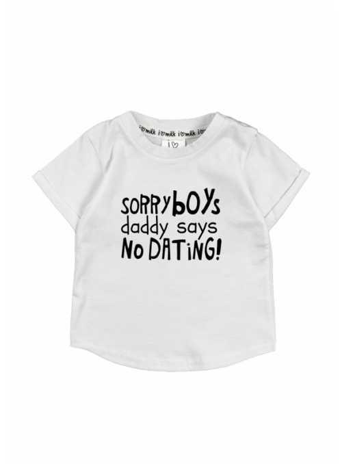 """""""Sorry boys..."""" – dětské tričko, bílé"""