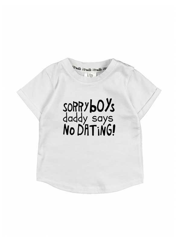 """""""Sorry boys..."""" – detské tričko, biele"""