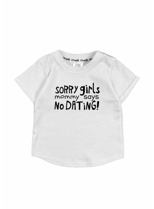 """""""Sorry girls..."""" – detské tričko, biele"""