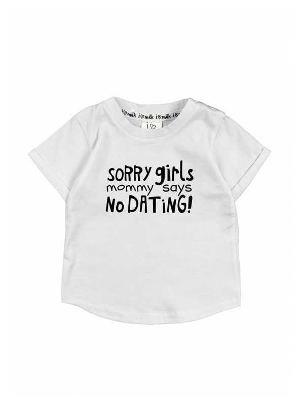 """Sorry girls..."" – detské tričko, biele - 3-6 mes"