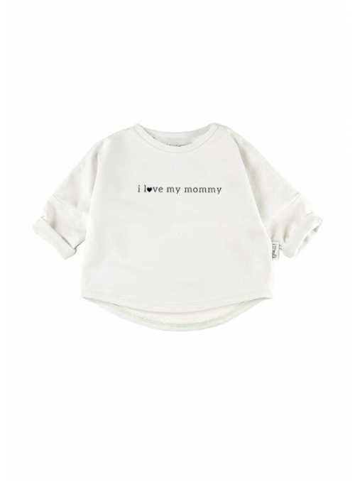 I LOVE MOMMY – detská mikina, biela- 0-3 mes