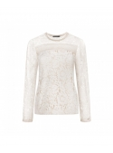 "Ladies laced top ""Herbertina"" creamy white"