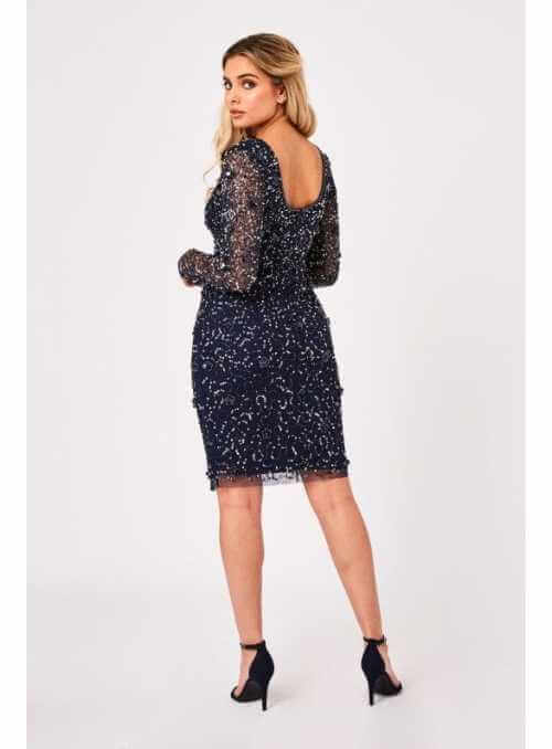 "Maxi šaty ""Zimná obloha"""