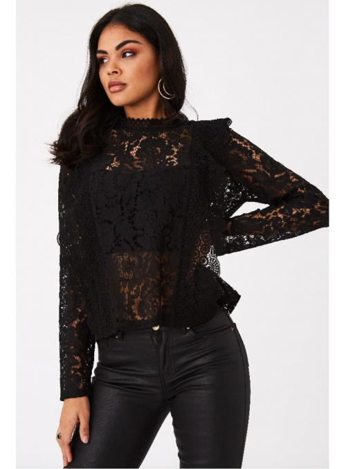 "Black lace top ""Magic lace"""