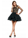 Mini čierne šaty Scarlett