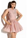 Mini ružové šaty My lady