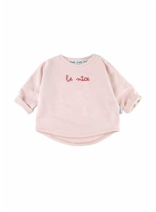 """""""Be nice"""" – detská mikina - 0-3 mes"""