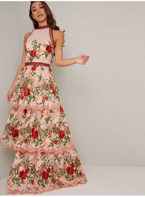 "Maxi dress ""Garden of love"""